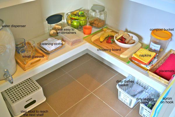 Food Preparation Area How We Montessori