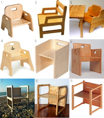 Montessori Weaning Chair, Infant Chair, Cube Chair Round Up