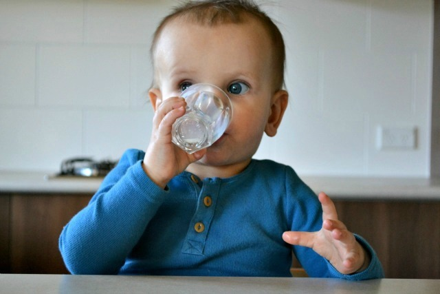 Otis drinking milk one handed 15 months