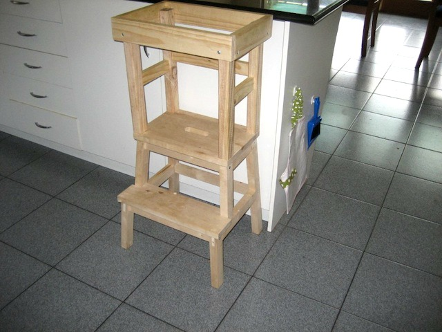 jack 39 s diy learning tower how we montessori. Black Bedroom Furniture Sets. Home Design Ideas