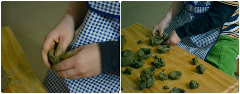 Strengthening hand muscles with clay