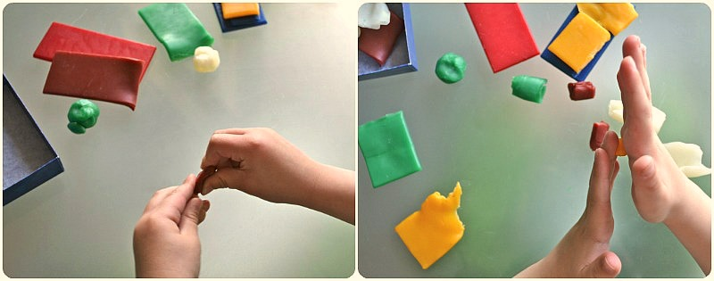 Strengthening hand muscles with modelling beeswax