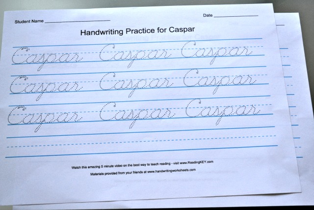 How is your cursive? - how we montessori