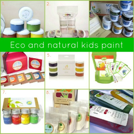 Eco and natural kids paint ideas