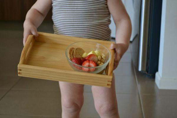 Why We Use A Tray With Sides How We Montessori