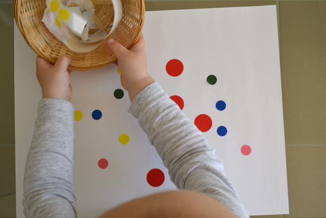 Dot sticker art - fine motor skills