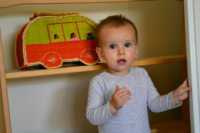 Waving and using greetings for language development