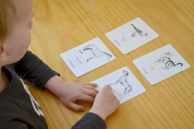 Handmade bilingual cards
