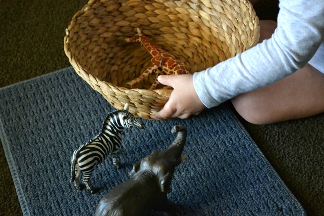 Using animals in a basket for language development - Montessori