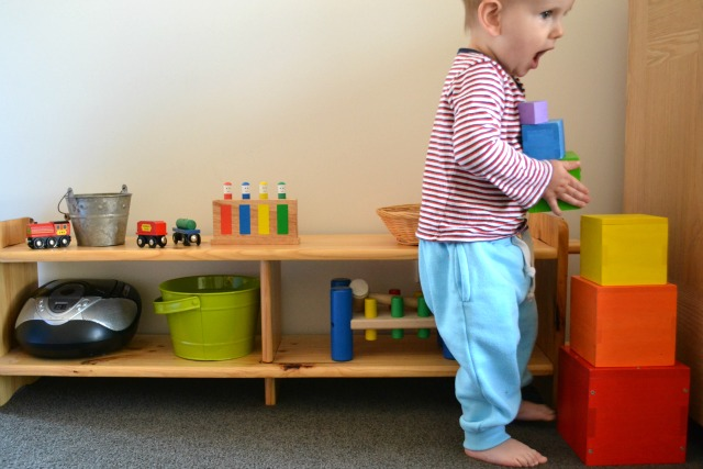 toy bookshelves toys materials shelves and rotation at 17 months how we montessori