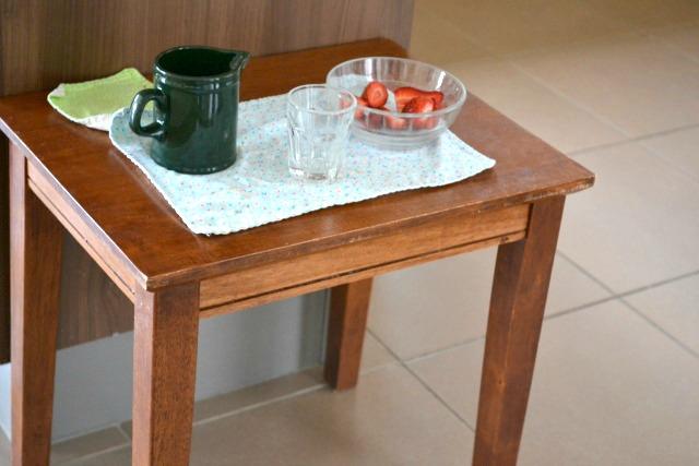 A little table