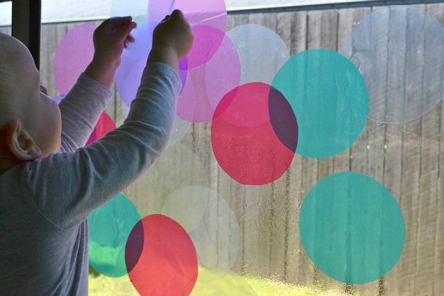 Otis with colour circles