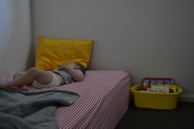Boy in picture sleeping underwear