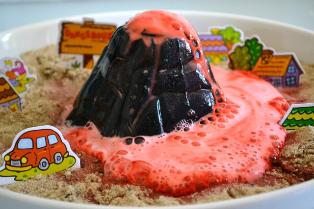 how to make a volcano out of clay erupt