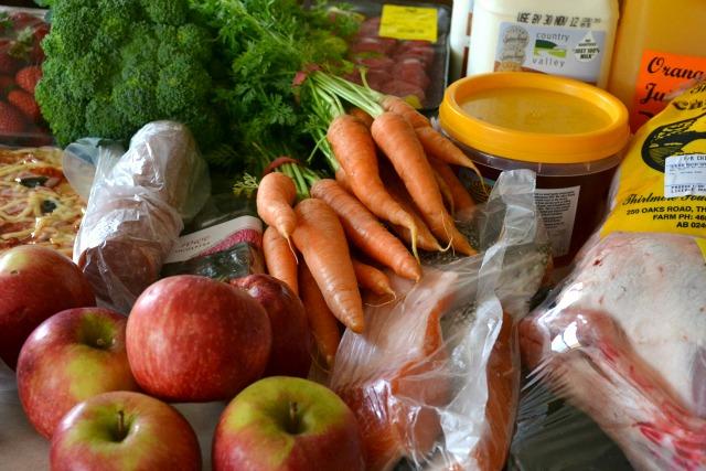 Produce from the Captial Region Farmers Market