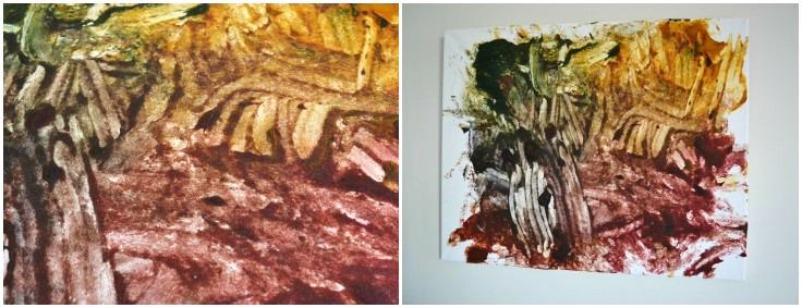 Otis's painting dry