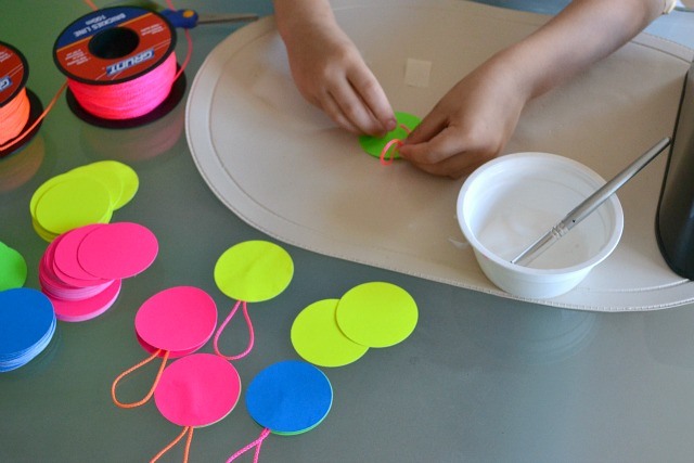 Cardboard baubles - how we montessori
