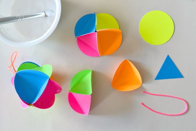 Neon baubles - how we montessori