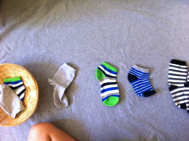 Five Minute Montessori - Matching Socks