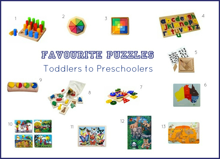 Favourite Puzzles Toddlers to Preschoolers