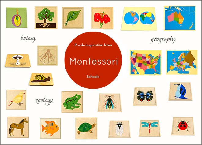 Puzzle inspiration from Montessori Schools