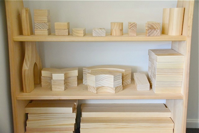 how we montessori block shelf