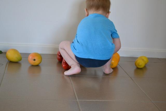Otis matching fruit and vegetables