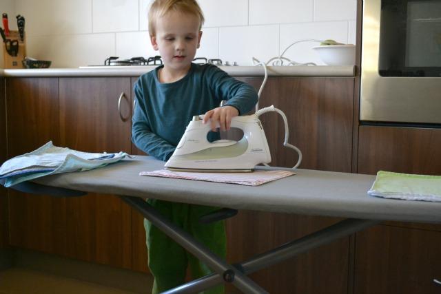 Caspar ironing