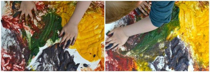 Caspar finger painting