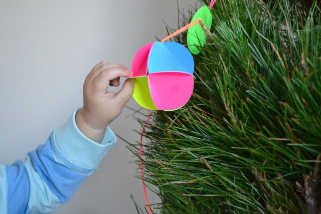 Cardboard bauble - how we montessori