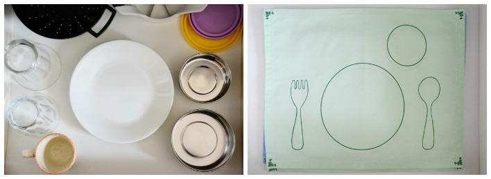 Montessori plates and place-mats