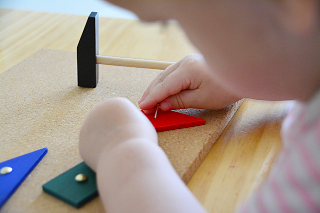 Montessori Toddler Hammering Board