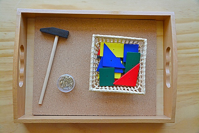 Montessori Toddler Hammering Board. A Toddler Hammering Activity   how we montessori