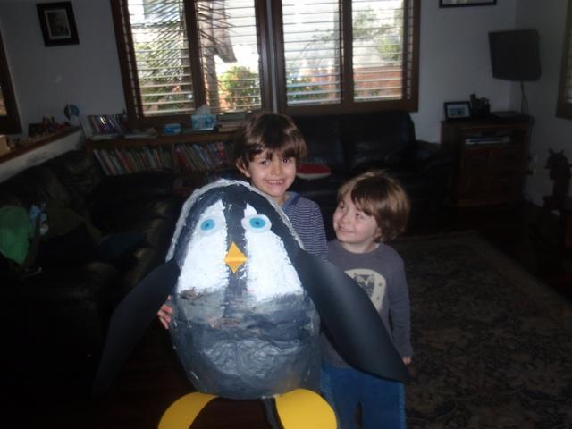 Montessori home inspiration - papier mache pengiun