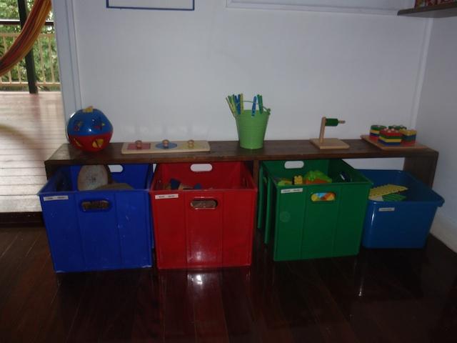 In a Montessori Home - toddler shelf