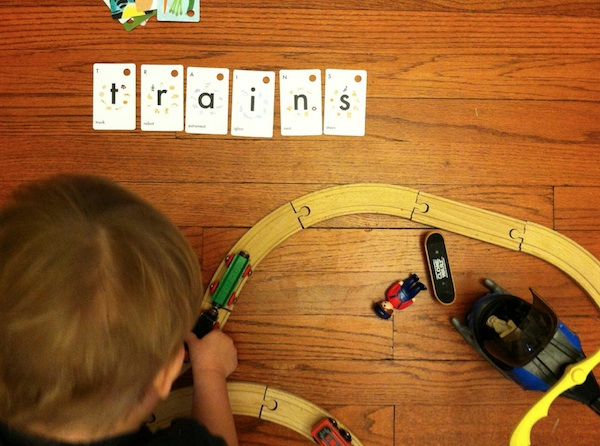Trains - Marie-Claire boys playing