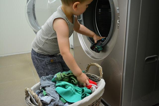 Otis unloading the laundry 23 months