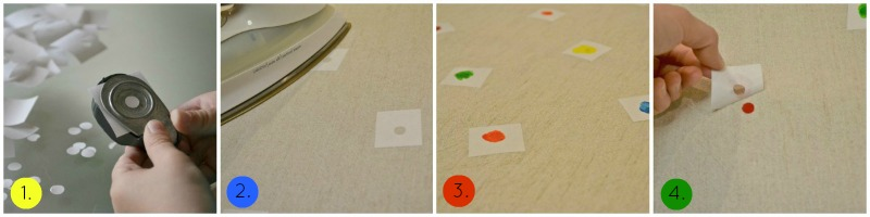 Process for DIY Confetti Tablecloth