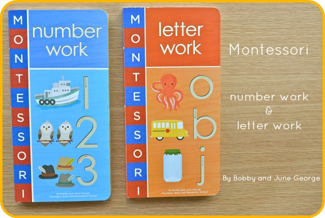 Montessori number work and letter work by Bobby and June George