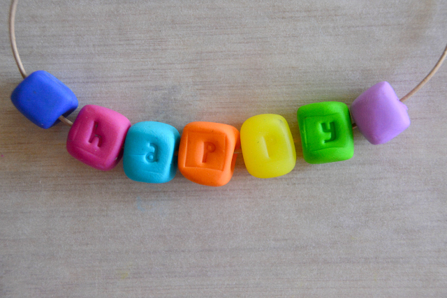Making personalised beads with FIMO