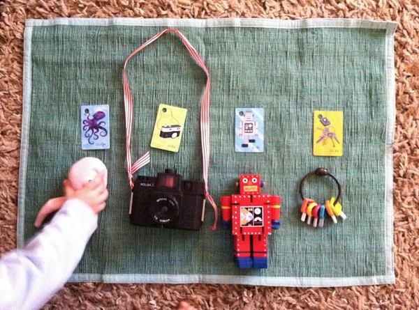 Marie-Claire boys matching with cards-to-items