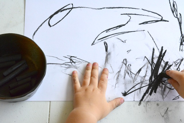 Charcoal Art at 24 months (Otis)