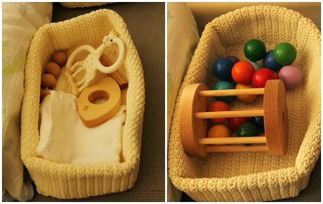 Kit, teething and crawling basket