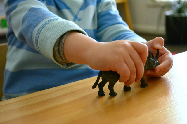 Otis with rhinoceros