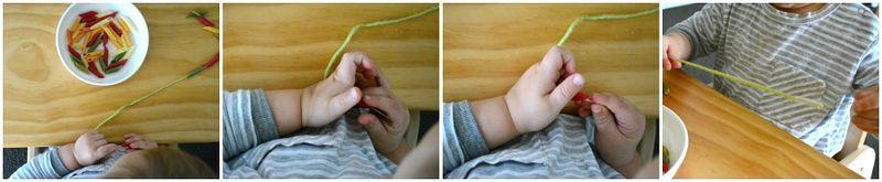 Threading pasta a