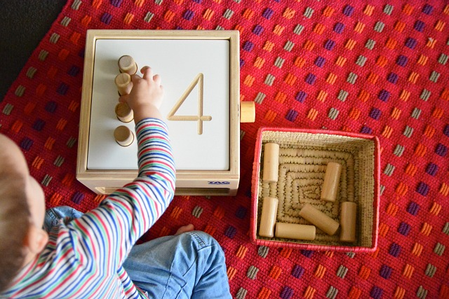Otis 27 months Tumble Down Counting Pegs