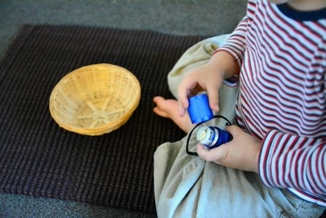 Montessori torch activity - toddler