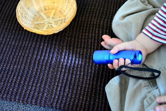 Montessori torch activity - toddler