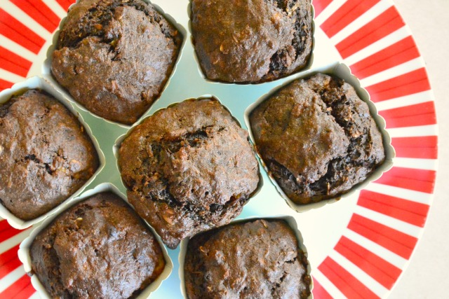 Otis's banana, chocolate and oat muffins