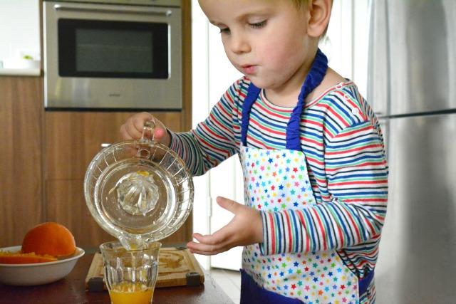 Otis pouring juice #3